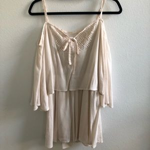 Papaya Cream Romper
